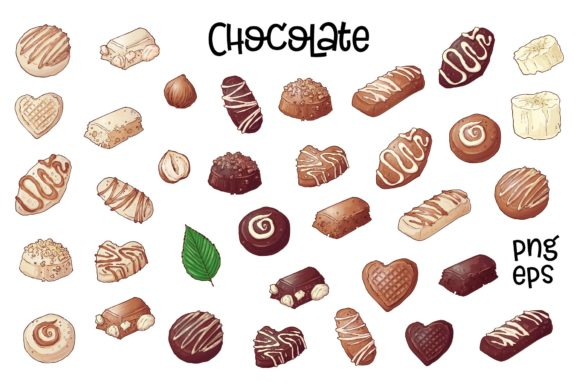 Chocolate – Vector Clip Art Graphic By nicjulia Image 3