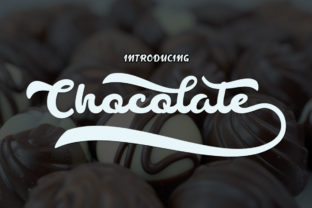 Chocolate Font By bbakey