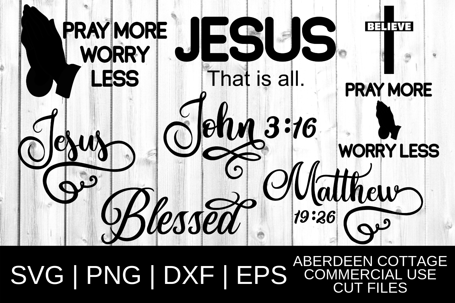 Download Free Christian Designs Mini Bundle Svg Graphic By Aberdeencottage for Cricut Explore, Silhouette and other cutting machines.