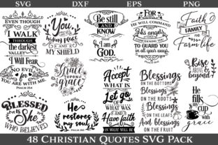 48 Christian Quotes Graphic By Nerd Mama Cut Files Creative