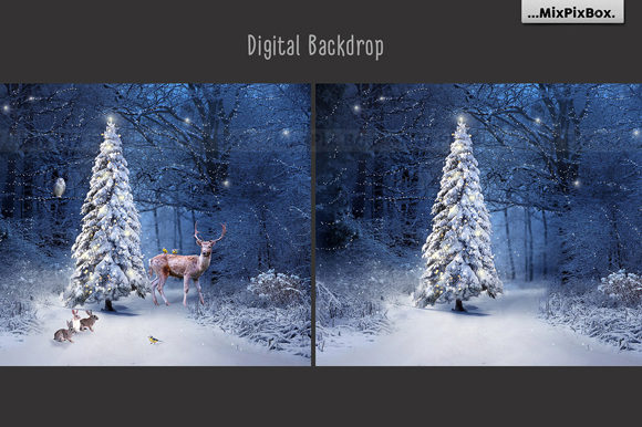 Print on Demand: Christmas Backdrop Graphic Layer Styles By MixPixBox - Image 2