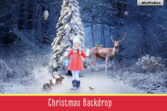 Print on Demand: Christmas Backdrop Graphic Layer Styles By MixPixBox - Image 1