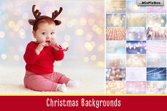 Print on Demand: Christmas Backgrounds Graphic Textures By MixPixBox