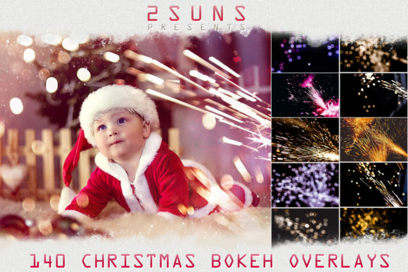 Christmas Sparklers Lights, Christmas Photo Overlays Graphic Layer Styles By 2SUNS