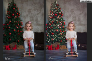 Print on Demand: Christmas Trees Lights Overlays Graphic Layer Styles By MixPixBox 2