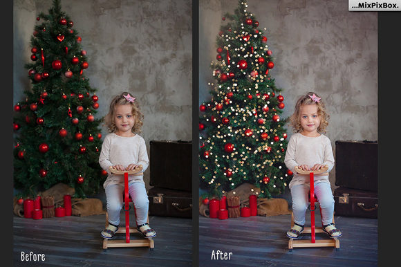 Print on Demand: Christmas Trees Lights Overlays Graphic Layer Styles By MixPixBox - Image 2