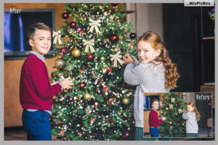 Print on Demand: Christmas Trees Lights Overlays Graphic Layer Styles By MixPixBox 4