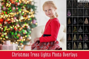 Print on Demand: Christmas Trees Lights Overlays Graphic Layer Styles By MixPixBox 1