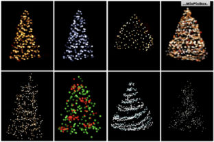 Print on Demand: Christmas Trees Lights Overlays Graphic Layer Styles By MixPixBox 6