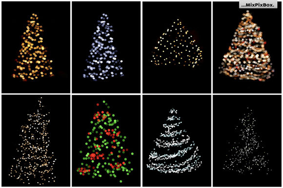 Print on Demand: Christmas Trees Lights Overlays Graphic Layer Styles By MixPixBox - Image 6