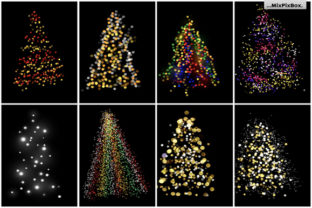 Print on Demand: Christmas Trees Lights Overlays Graphic Layer Styles By MixPixBox 7