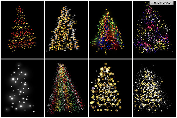 Print on Demand: Christmas Trees Lights Overlays Graphic Layer Styles By MixPixBox - Image 7