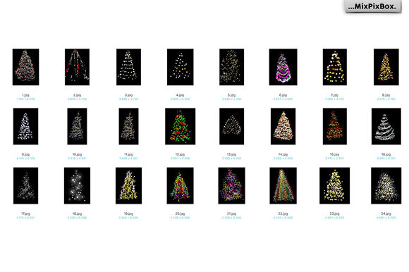 Print on Demand: Christmas Trees Lights Overlays Graphic Layer Styles By MixPixBox - Image 8