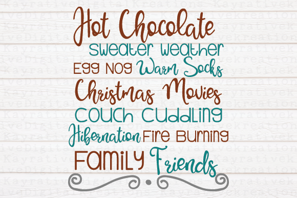Download Free Christmas Word Art Svg Graphic By Kayla Griffin Creative Fabrica for Cricut Explore, Silhouette and other cutting machines.