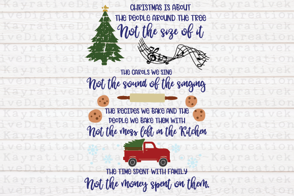 Download Free Christmas Is About Svg Graphic By Kayla Griffin Creative Fabrica for Cricut Explore, Silhouette and other cutting machines.