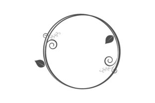 Download Free Circle Frames Wreaths For Design Logo Template Graphic By for Cricut Explore, Silhouette and other cutting machines.