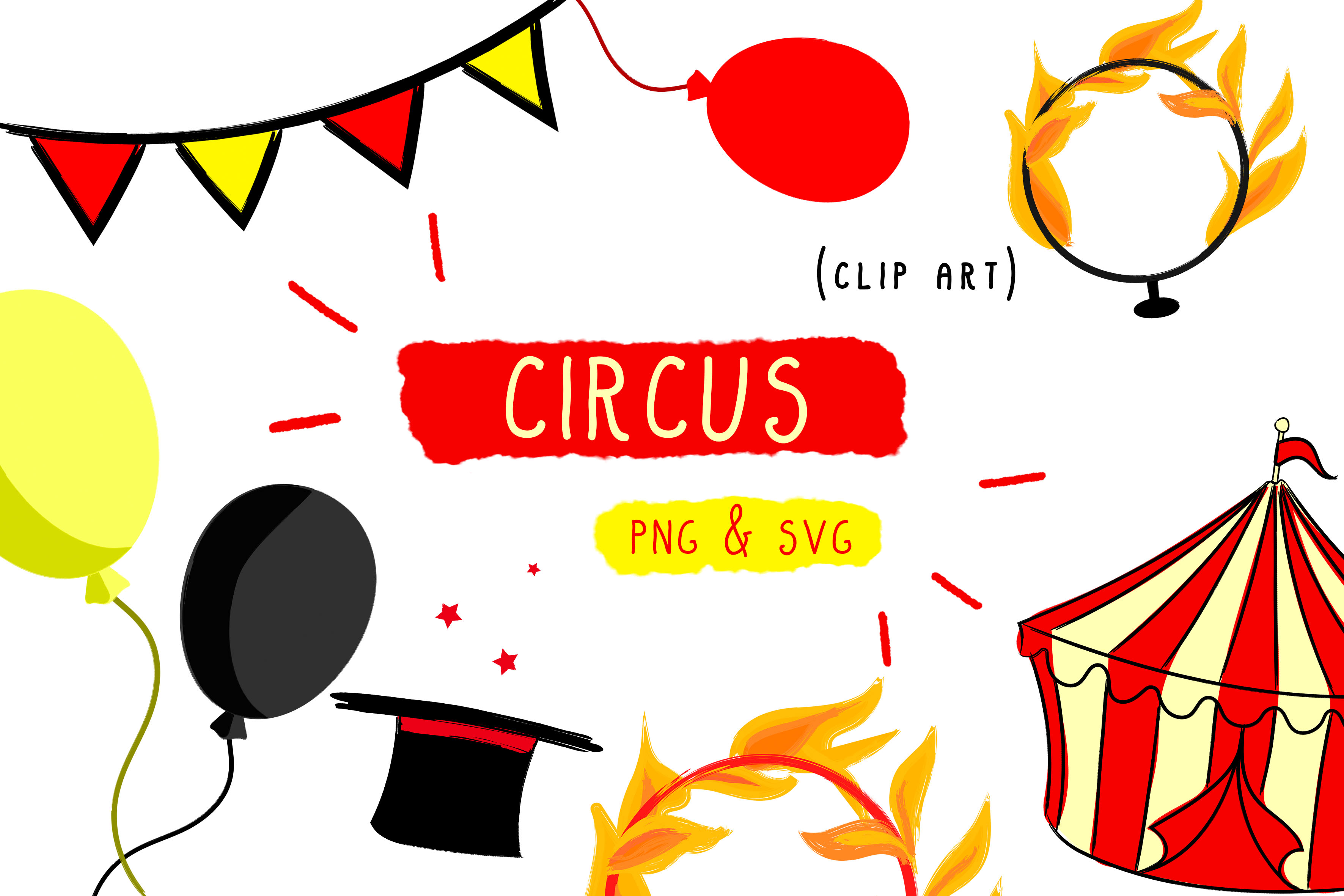 Download Free Circus Show Clown Graphic By Inkclouddesign Creative Fabrica for Cricut Explore, Silhouette and other cutting machines.