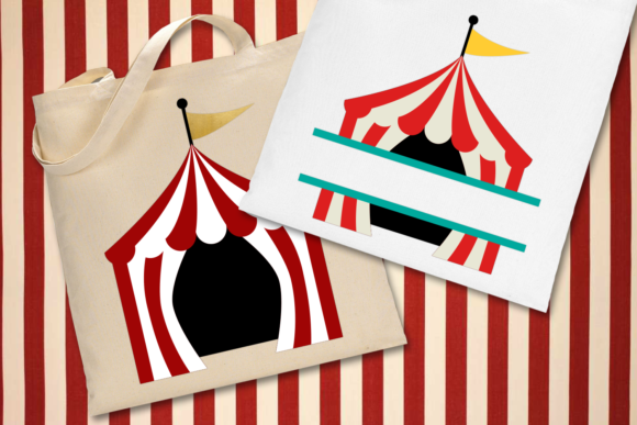 Circus Tent and Split  Graphic Crafts By DesignedByGeeks