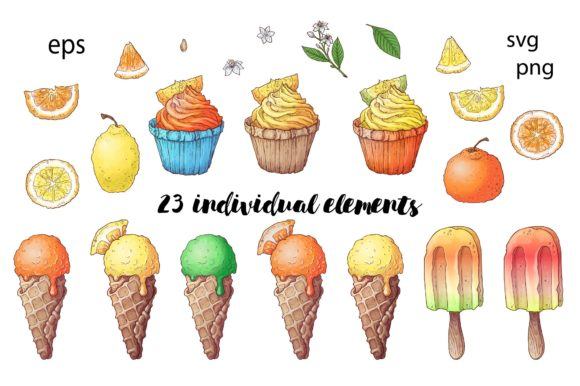 Citrus Sweets Graphic By nicjulia Image 2