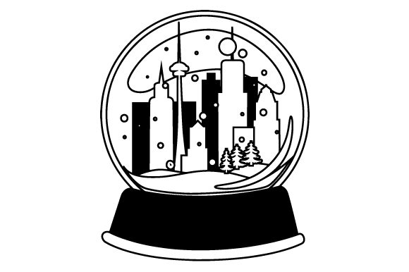 Download Free Cityscape Snowglobe Svg Cut File By Creative Fabrica Crafts for Cricut Explore, Silhouette and other cutting machines.