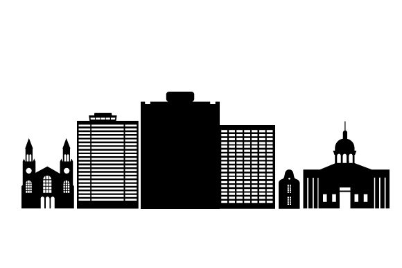 Download Free Cityscape Of Bloemfontein Svg Cut File By Creative Fabrica for Cricut Explore, Silhouette and other cutting machines.