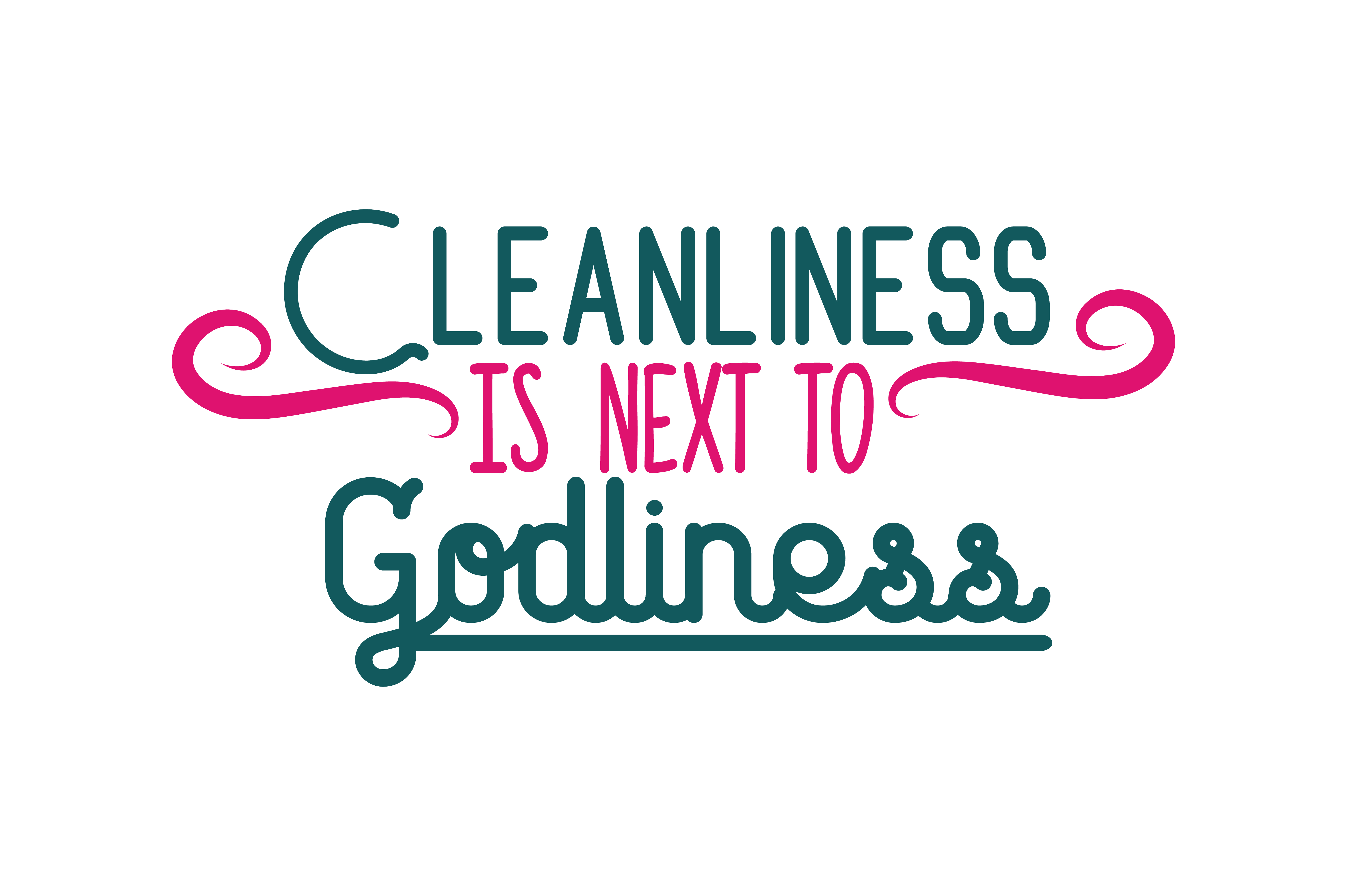 Download Free Cleanliness Is Next To Godliness Quote Svg Cut Graphic By for Cricut Explore, Silhouette and other cutting machines.