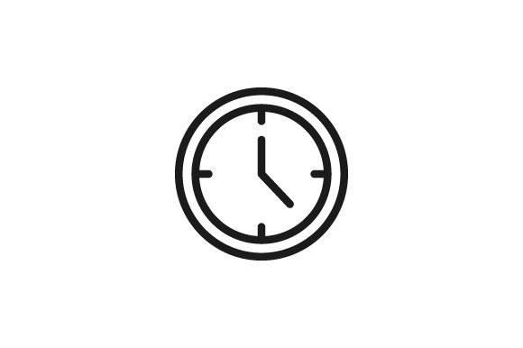 Print on Demand: Clock Icon Graphic Icons By Kanggraphic
