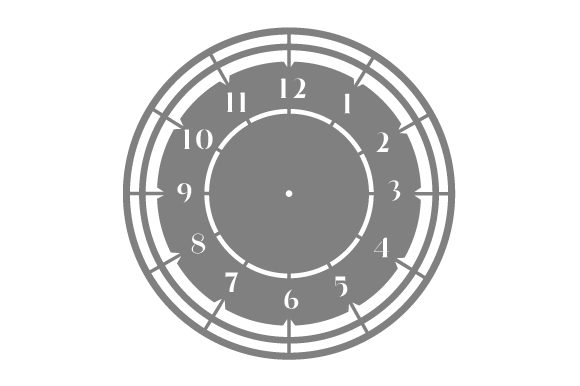 Clock Face Designs & Drawings Craft Cut File By Creative Fabrica Crafts - Image 1