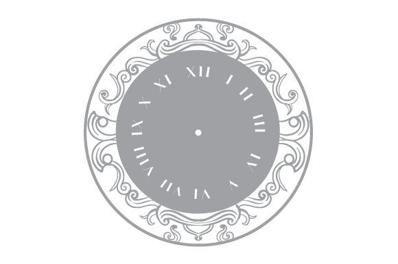Download Free Clock Face In Roman Numeral Svg Cut File By Creative Fabrica for Cricut Explore, Silhouette and other cutting machines.