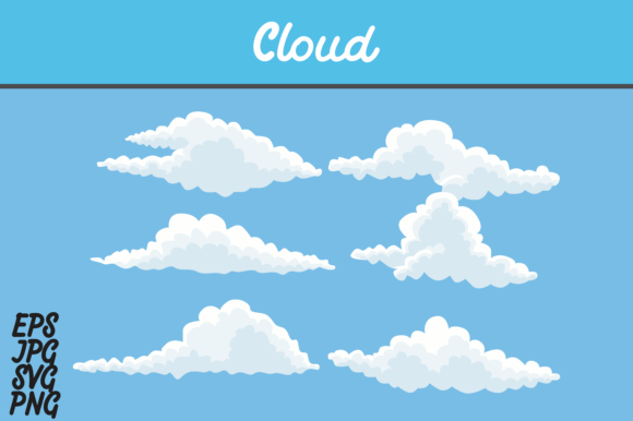 Download Free Cloud Icon Set Svg Vector Image Graphic By Arief Sapta Adjie for Cricut Explore, Silhouette and other cutting machines.
