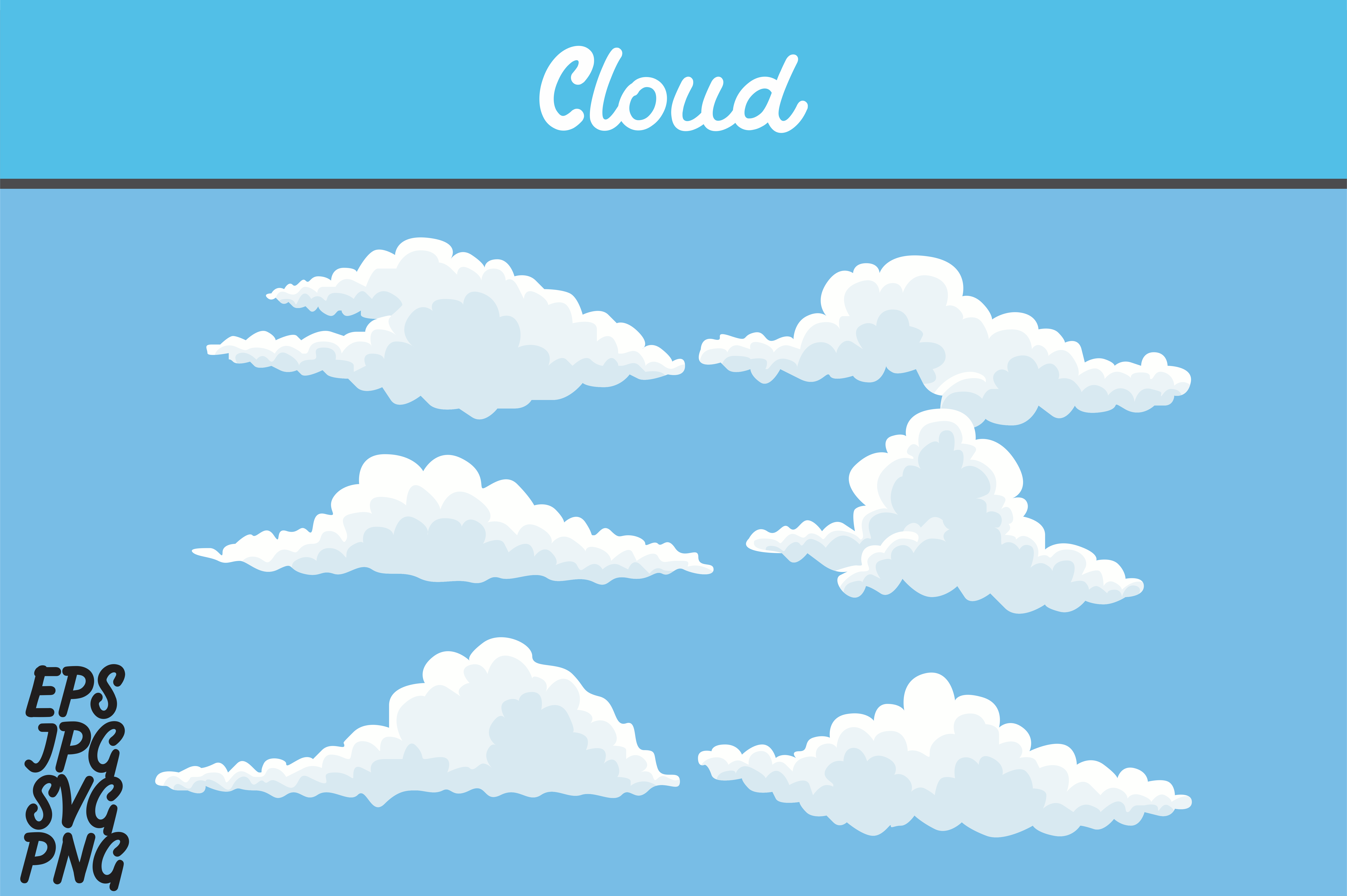 Download Free Cloud Icon Set Svg Vector Image Graphic By Arief Sapta Adjie Creative Fabrica for Cricut Explore, Silhouette and other cutting machines.