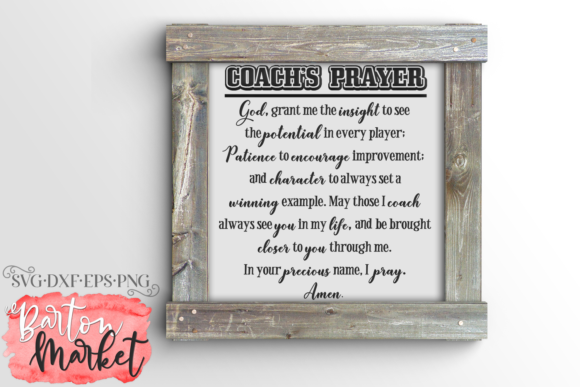 Coach's Prayer SVG Graphic Crafts By Barton Market