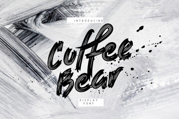 Print on Demand: Coffee Bear Display Font By ChekArt