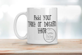 Download Free Coffee Mug On Light Wood Background Graphic By Cre8tivedezinez for Cricut Explore, Silhouette and other cutting machines.