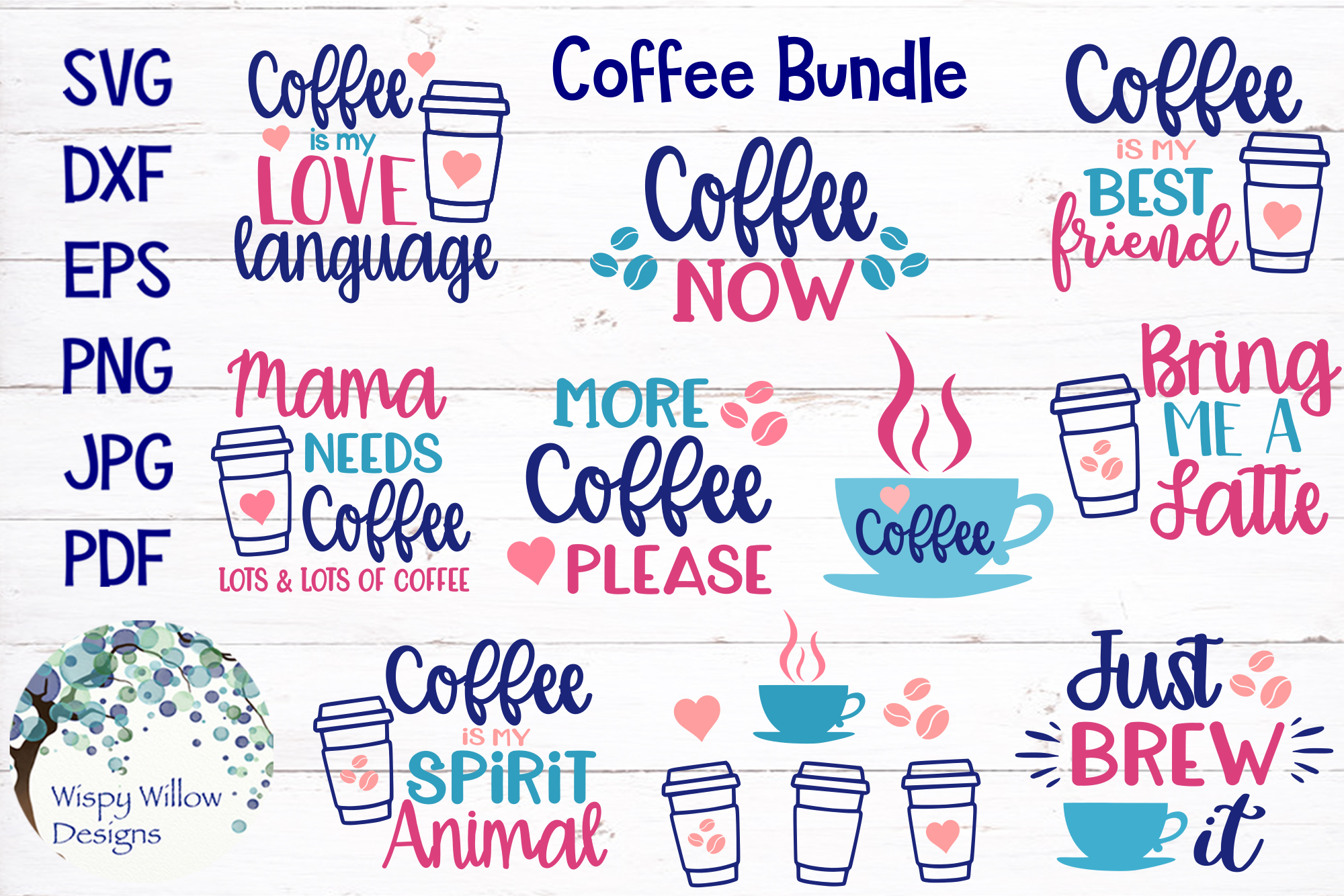 Coffee Bundle Graphic By Wispywillowdesigns Creative Fabrica