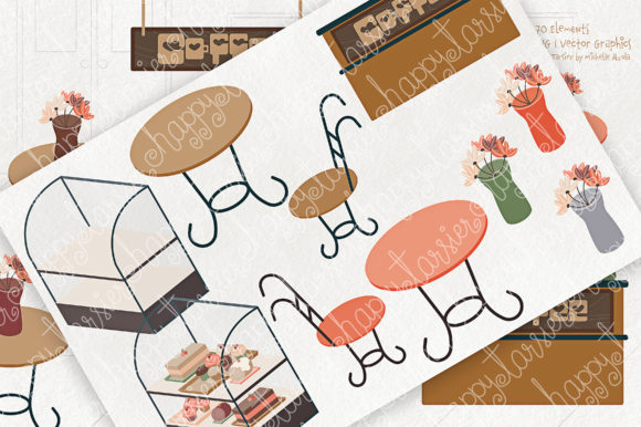 Print on Demand: Coffee Shop Clipart Graphic Illustrations By Michelle Alzola - Image 6