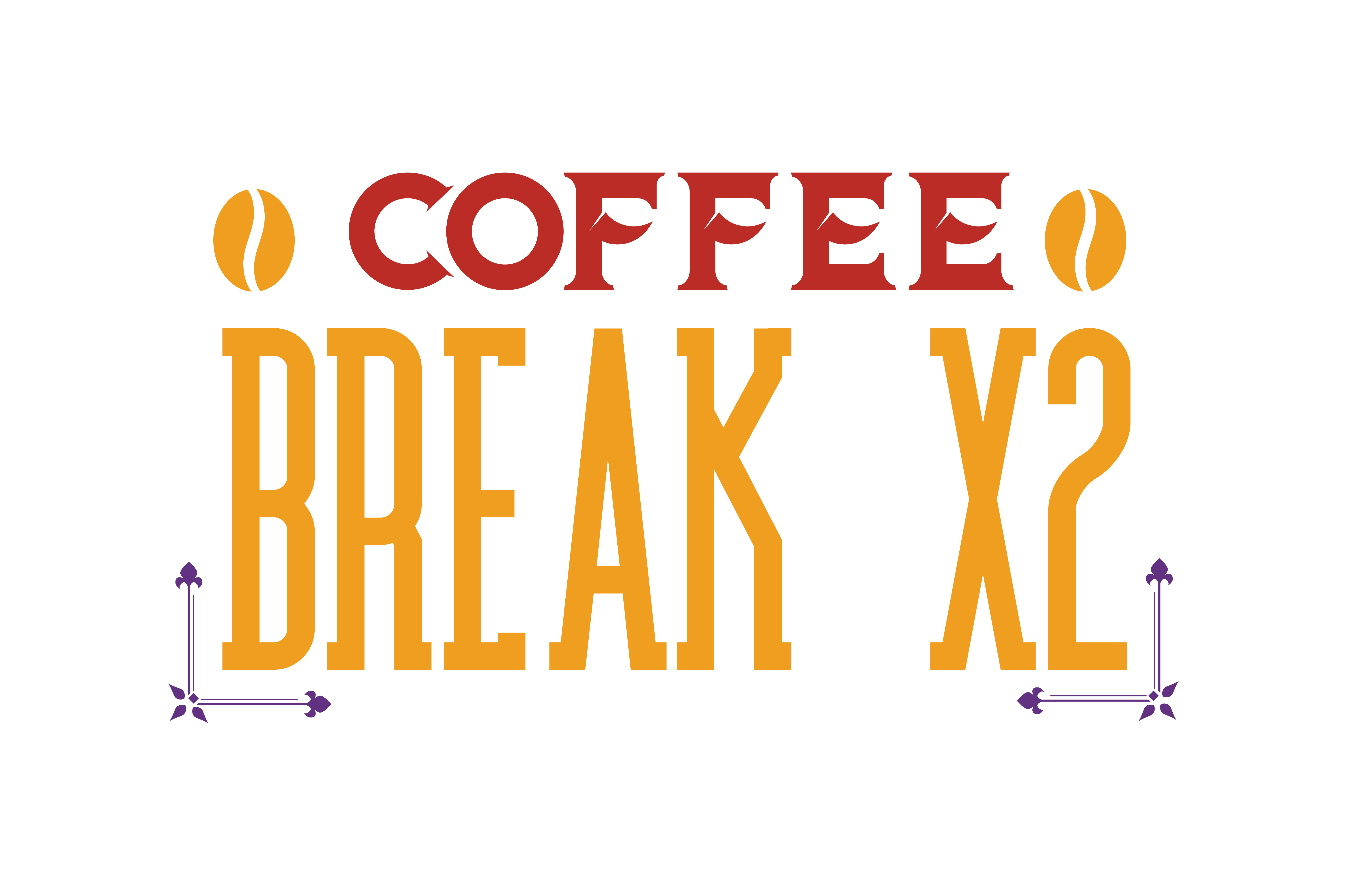 Download Free Coffee Break 2x Quote Svg Cut Graphic By Thelucky Creative Fabrica for Cricut Explore, Silhouette and other cutting machines.