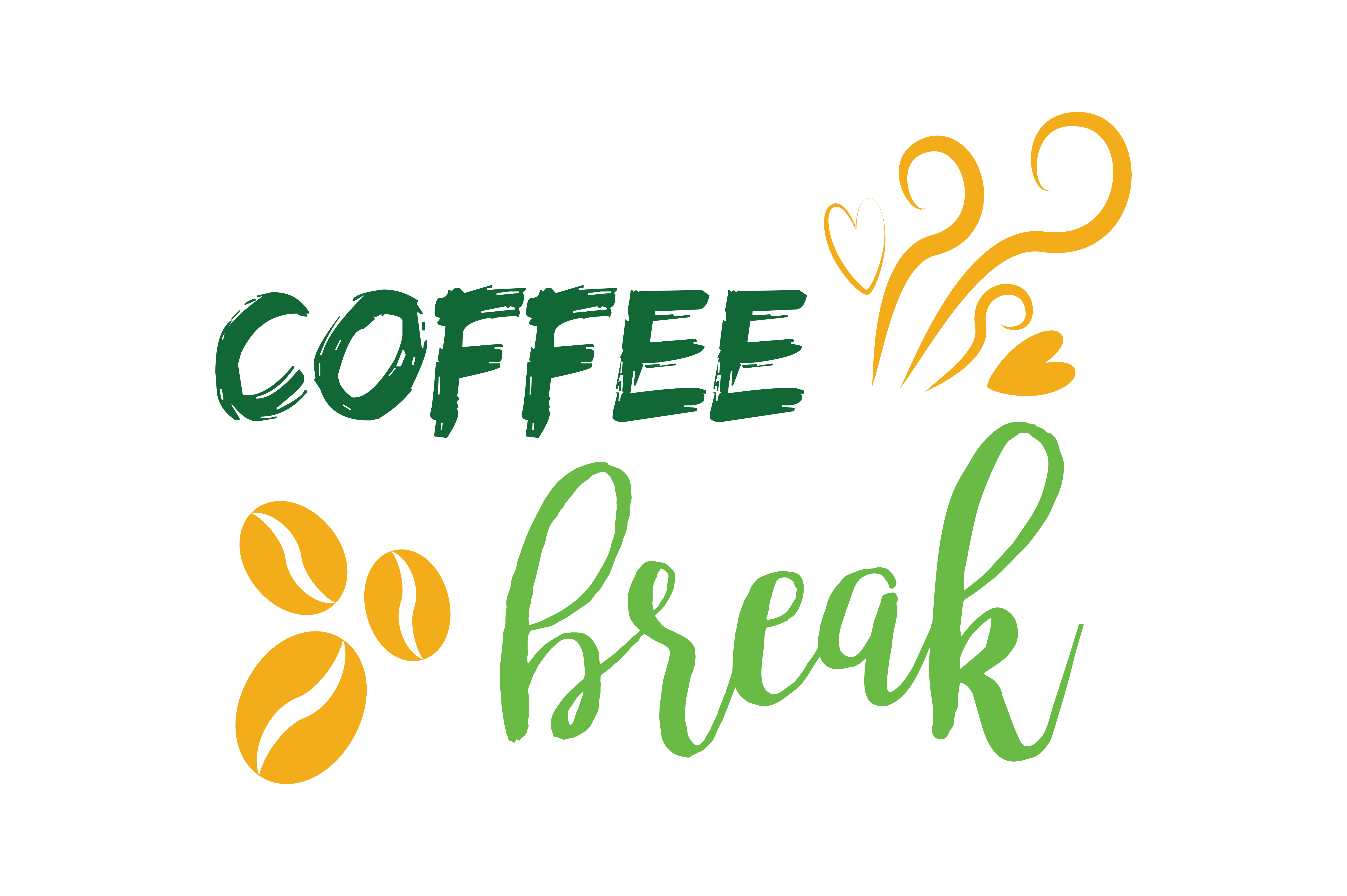 Download Free Coffee Break Quote Svg Cut Graphic By Thelucky Creative Fabrica for Cricut Explore, Silhouette and other cutting machines.