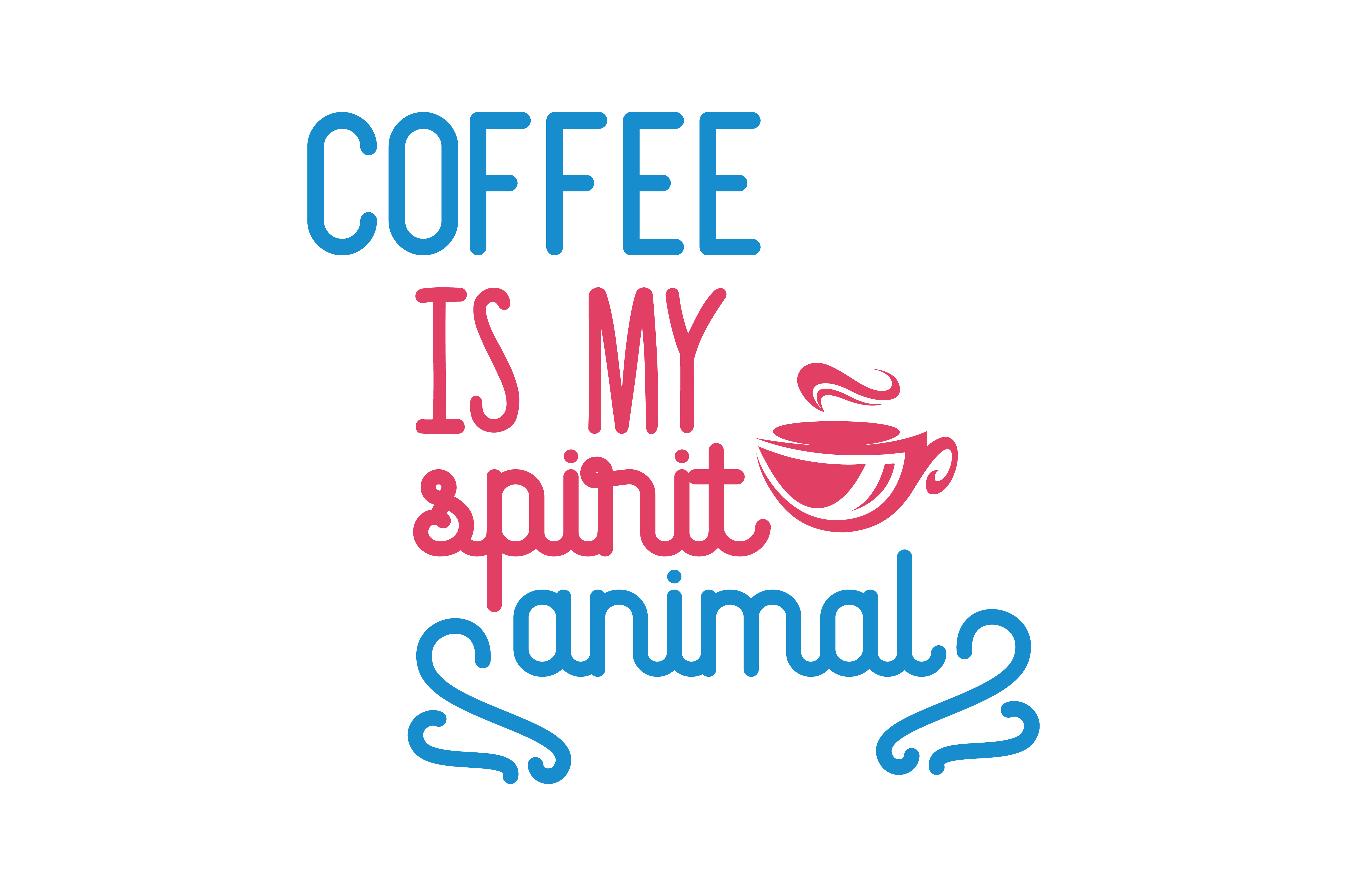 Download Free Coffee Is My Spirit Animal Quote Svg Cut Graphic By Thelucky for Cricut Explore, Silhouette and other cutting machines.