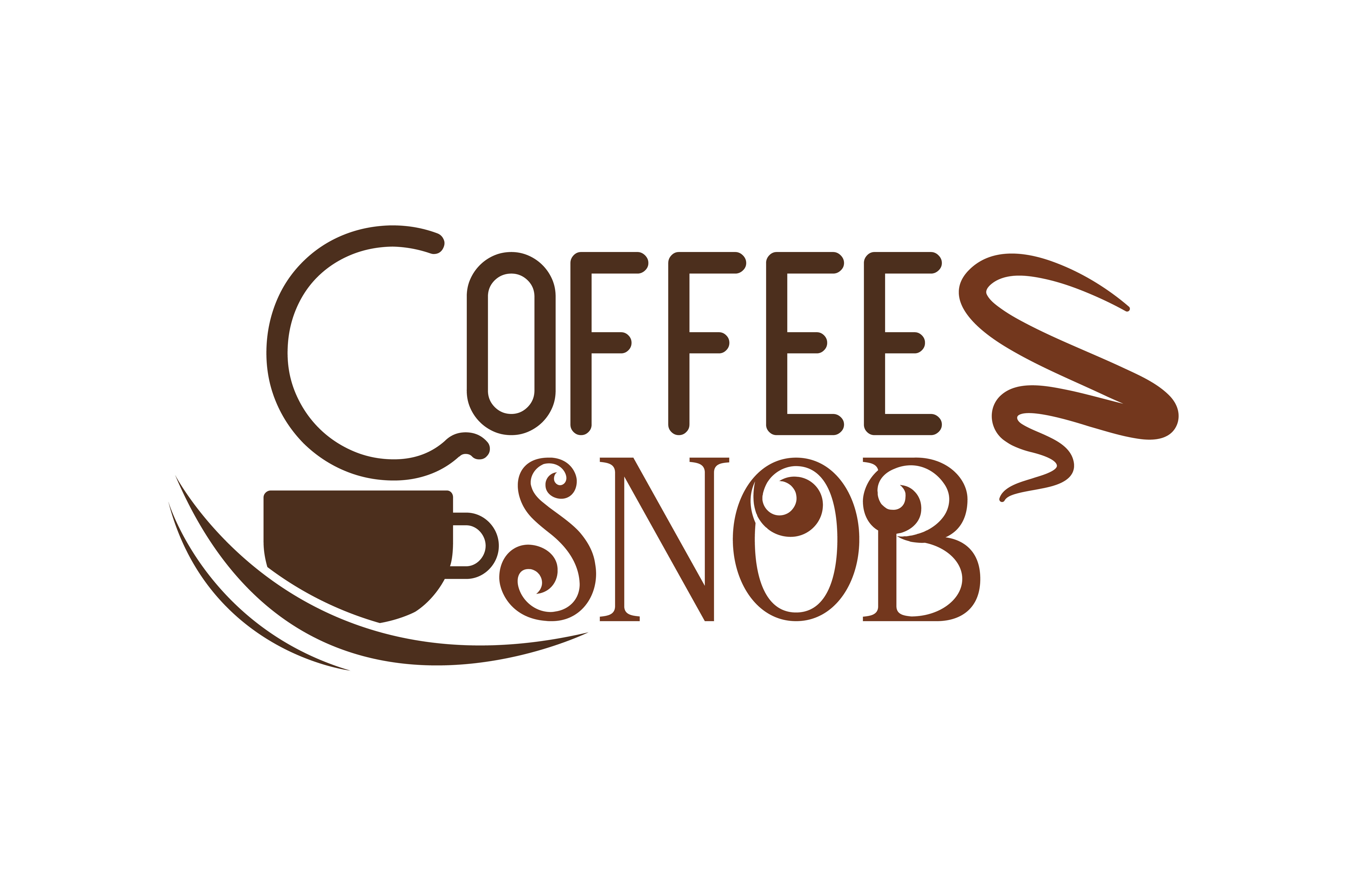 Download Free Coffee Snob Quote Svg Cut Graphic By Thelucky Creative Fabrica for Cricut Explore, Silhouette and other cutting machines.