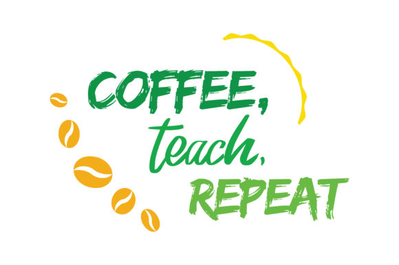 Download Free Coffee Teach Repeat Quote Svg Cut Graphic By Thelucky Creative for Cricut Explore, Silhouette and other cutting machines.