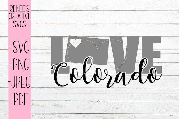 Download Free Colorado Love Svg Graphic By Reneescreativesvgs Creative Fabrica for Cricut Explore, Silhouette and other cutting machines.