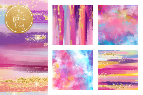 Print on Demand: Colorful Brush Strokes & Stains Background Textures Graphic Textures By daphnepopuliers - Image 3