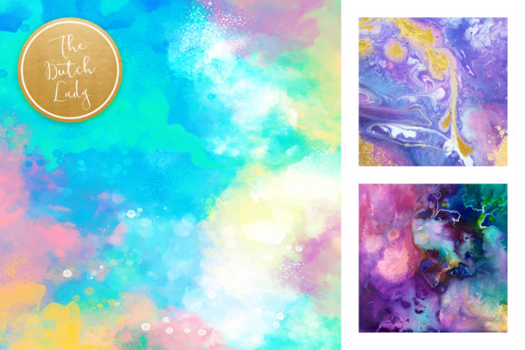 Print on Demand: Colorful Brush Strokes & Stains Background Textures Graphic Textures By daphnepopuliers - Image 4