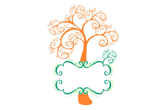 Download Free Colorful Family Tree Monogram Svg Cut File By Creative Fabrica for Cricut Explore, Silhouette and other cutting machines.
