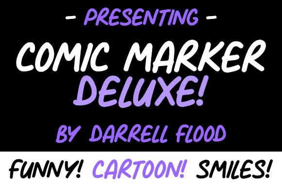 Print on Demand: Comic Marker Deluxe Script & Handwritten Font By Dadiomouse