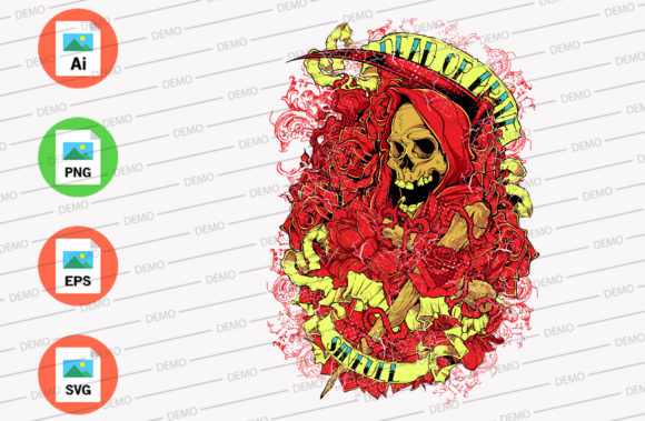 Conjurer Skull Graphic Illustrations By Skull and Rose