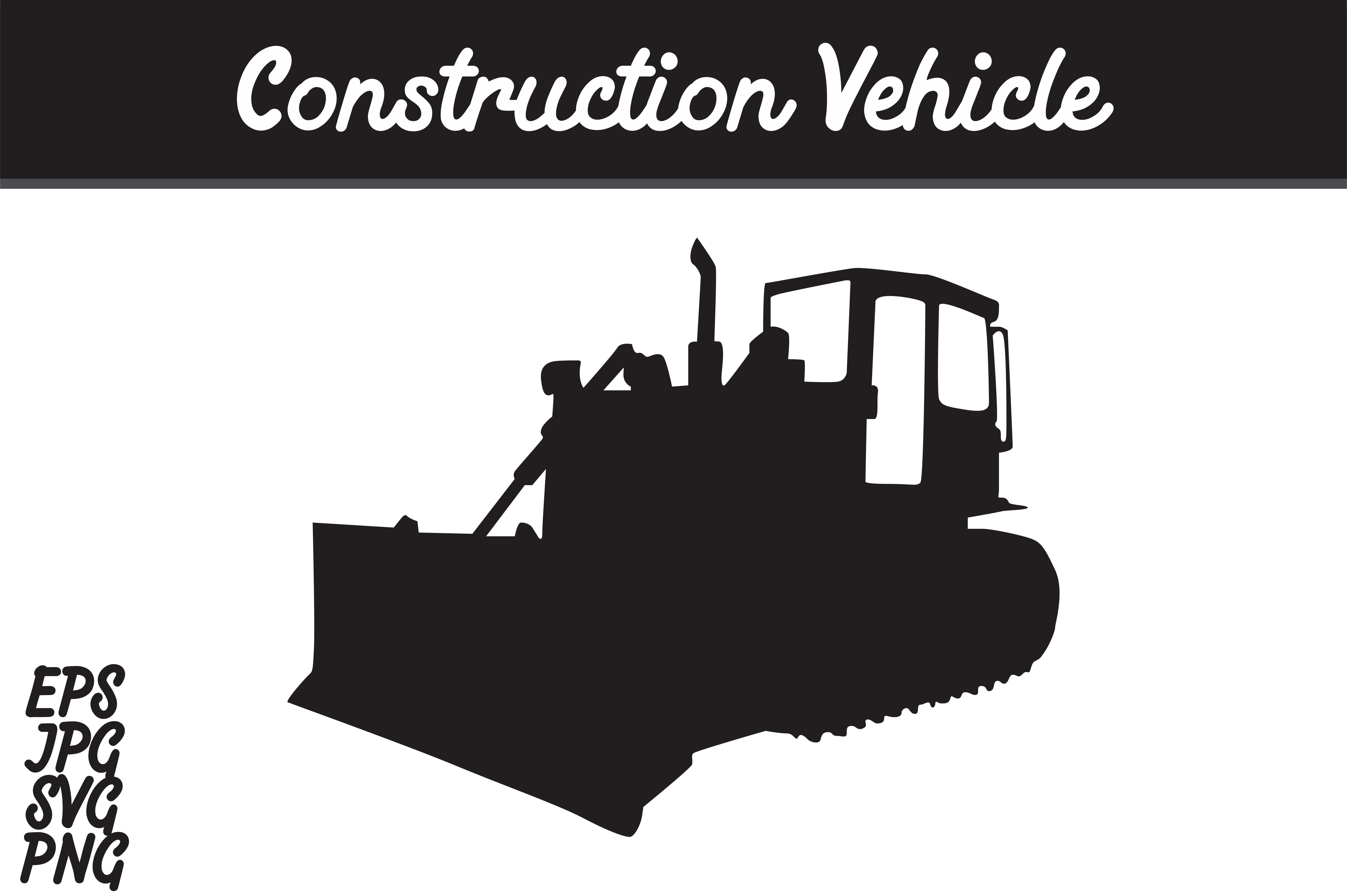 Download Free Construction Vehicle Silhouette Svg Vector Image Graphic By for Cricut Explore, Silhouette and other cutting machines.