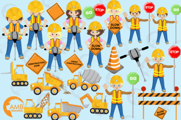 Construction Cliparts Graphic Illustrations By AMBillustrations - Image 4