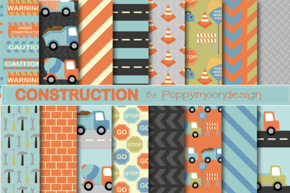Print on Demand: Construction Paper Graphic Patterns By poppymoondesign